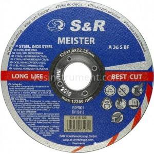Диск отрезной по металлу/нержавейке S&R Meister A36S BF 125/1.6
