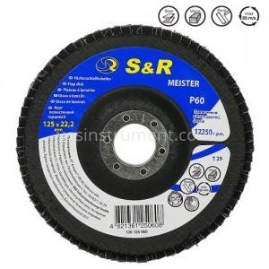 Диск зачистной лепестковый S&R Meister T29 125/22.2 P60