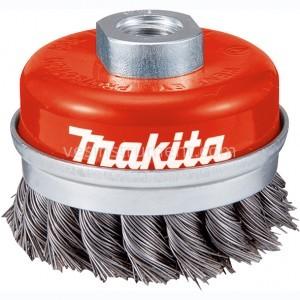 Щетка чашечная Makita / витая сталь (65 мм)