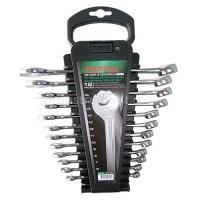 Набор комбинированных гаечных ключей TOPTUL Hi-Performance / 6-19 мм / 12 ед.