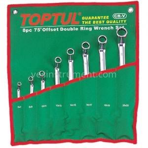 Набор накидных гаечных ключей TOPTUL / 6-22 мм (75°) 8 ед.