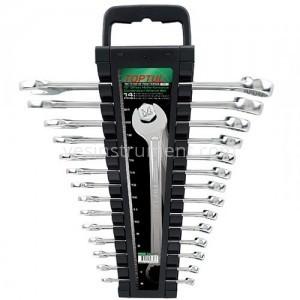 Набор комбинированных гаечных ключей TOPTUL Hi-Performance / 6-24 мм / 14 ед.