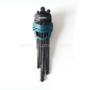Набор шестигранных ключей Makita 1.5 - 10 мм / 9 ед. (длинные с шаром)