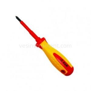 Отвертка S&R диэлектрическая крестовая / PH 1х75 мм