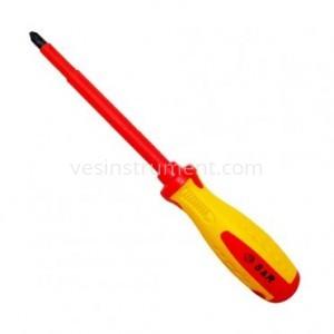 Отвертка S&R диэлектрическая крестовая / PH 3х150 мм