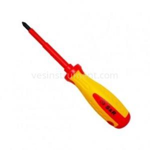 Отвертка S&R диэлектрическая крестовая / PZ 2х100 мм