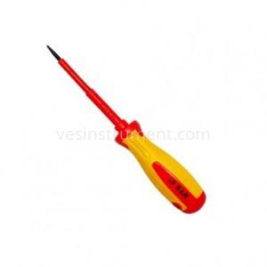 Отвертка S&R диэлектрическая шлицевая / SL 3х80 мм