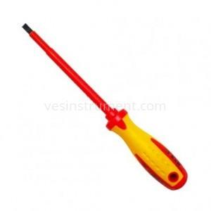 Отвертка S&R диэлектрическая шлицевая / SL 6.5х150 мм