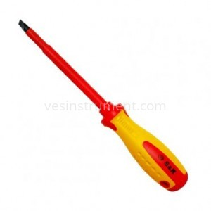 Отвертка S&R диэлектрическая шлицевая / SL 8х150 мм